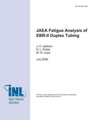 Primary view of object titled 'JAEA Fatigue Analysis of EBR-II Duplex Tubing'.