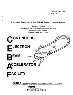 Primary view of object titled 'Chromatic Correction in the CEBAF Beam Transport System'.