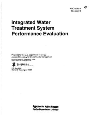 Primary view of object titled 'INTEGRATED WATER TREATMENT SYSTEM PERFORMANCE EVALUATION'.