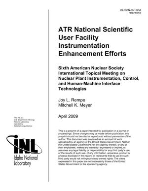 Primary view of object titled 'ATR NATIONAL SCIENTIFIC USER FACILITY INSTRUMENTATION ENHANCEMENT EFFORTS'.