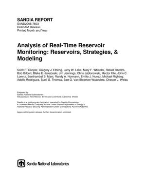 Primary view of object titled 'Analysis of real-time reservoir monitoring : reservoirs, strategies, & modeling.'.