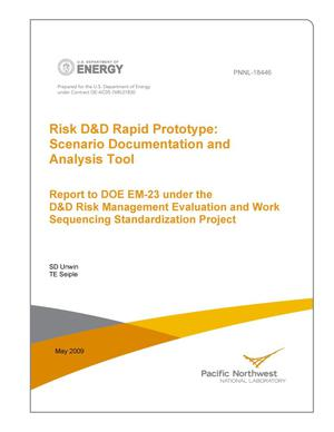 Primary view of object titled 'Risk D&D Rapid Prototype: Scenario Documentation and Analysis Tool'.