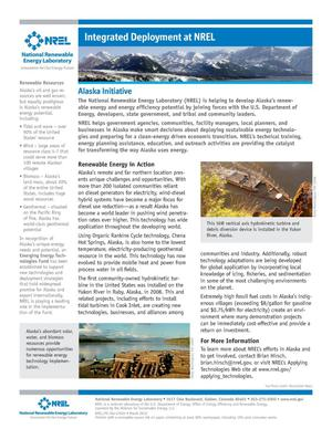 Primary view of object titled 'Integrated Deployment at NREL: Alaska Initiative (Fact Sheet)'.