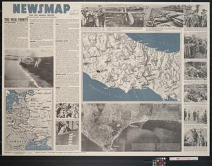 Primary view of object titled 'Newsmap. For the Armed Forces. 234th week of the war, 116th week of U.S. participation'.