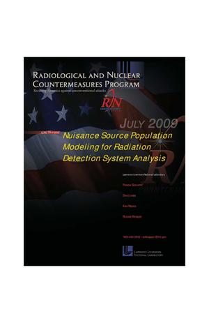 Primary view of object titled 'Nuisance Source Population Modeling for Radiation Detection System Analysis'.