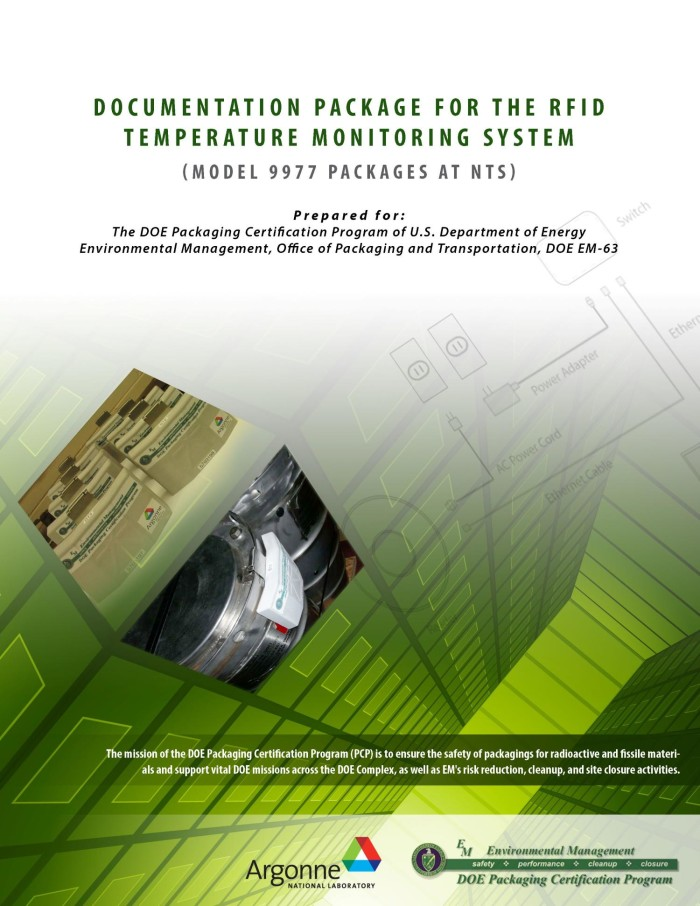 Documentation pckage for the RFID temperature monitoring system (Of ...