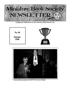 Primary view of object titled 'Miniature Book Society Newsletter 1998 October'.