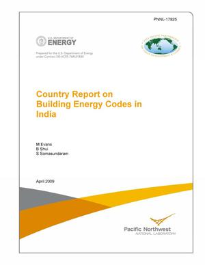 Primary view of object titled 'Country Report on Building Energy Codes in India'.