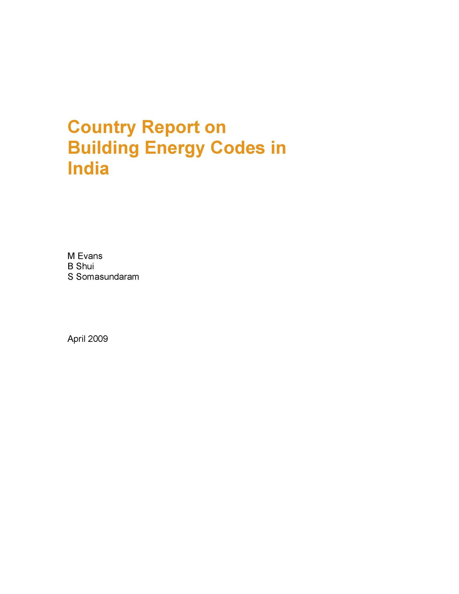 Country Report on Building Energy Codes in India                                                                                                      [Sequence #]: 3 of 24
