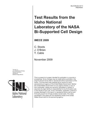 Primary view of object titled 'Test Results From The Idaho National Laboratory Of The NASA Bi-Supported Cell Design'.