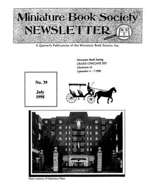 Primary view of object titled 'Miniature Book Society Newsletter 1998 July'.