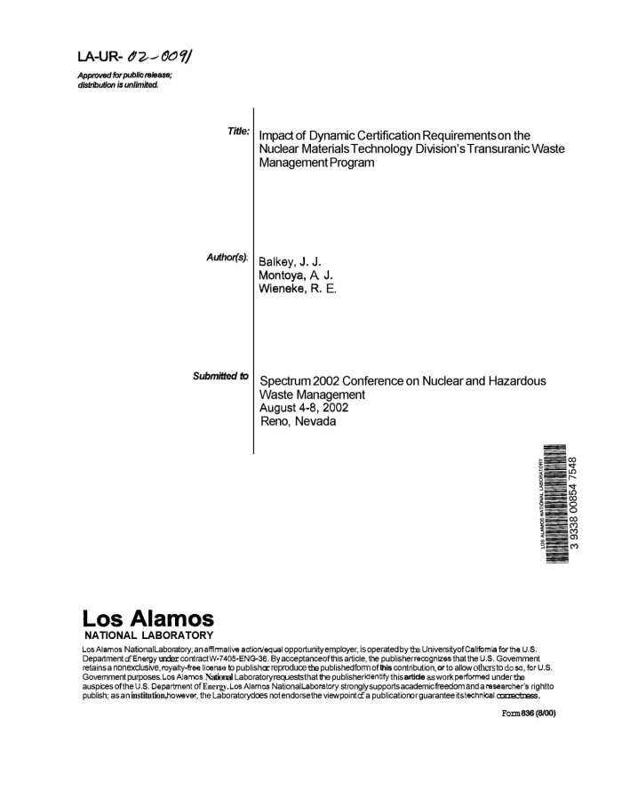 Impact Of Dynamic Certification Requirements On The Nuclear