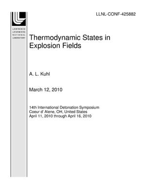 Primary view of object titled 'Thermodynamic States in Explosion Fields'.