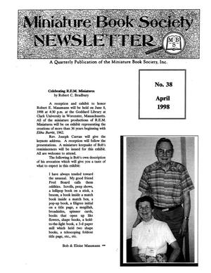 Primary view of object titled 'Miniature Book Society Newsletter 1998 April'.