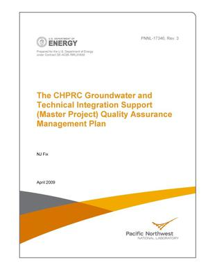 Primary view of object titled 'The CHPRC Groundwater and Technical Integration Support (Master Project) Quality Assurance Management Plan'.