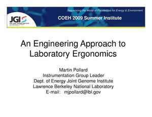 Primary view of object titled 'An Engineering Approach to Laboratory Ergonomics'.