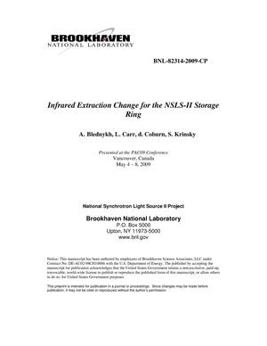Primary view of object titled 'Infrared Extraction Change for the NSLS-II Storage Ring'.