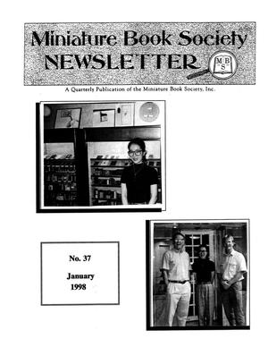 Primary view of object titled 'Miniature Book Society Newsletter 1998 January'.