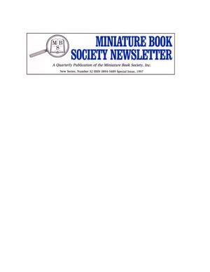 Primary view of object titled 'Miniature Book Society Newsletter 1997 Special Issue'.