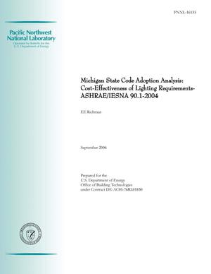 Primary view of object titled 'Michigan State Code Adoption Analysis: Cost-Effectiveness of Lighting Requirements - ASHRAE/IESNA 90.1-2004'.