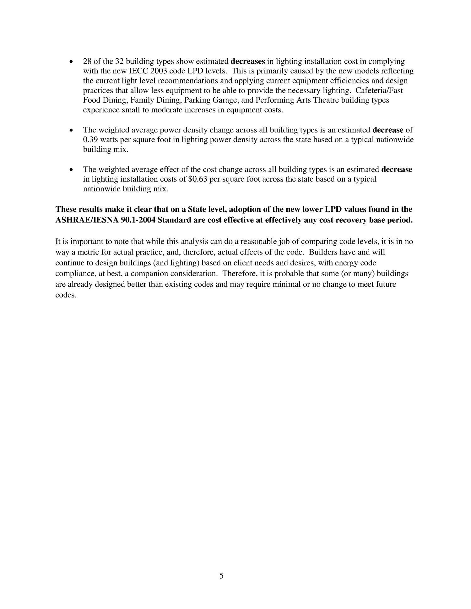 michigan state code adoption analysis cost effectiveness of