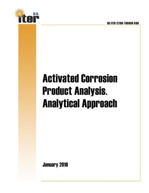 Primary view of object titled 'Activated Corrosion Product Analysis. Analytical Approach.'.
