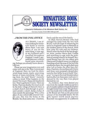 Primary view of object titled 'Miniature Book Society Newsletter 1997 April'.