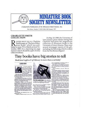 Miniature Book Society Newsletter 1997 January