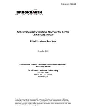 Primary view of object titled 'Structural Design Feasibility Study for the Global Climate Experiment'.