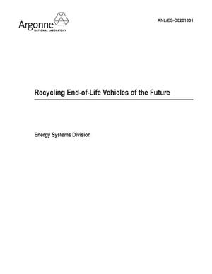 Primary view of object titled 'Recycling end-of-life vehicles of the future. Final CRADA report.'.