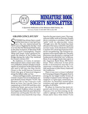 Miniature Book Society Newsletter 1996 October