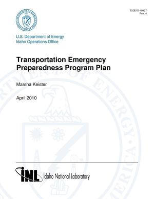 Primary view of object titled 'Transportation Emergency Preparedness Program Plan, U.S. Department of Energy Region 6'.