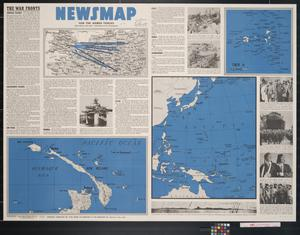 Primary view of object titled 'Newsmap. For the Armed Forces. 233rd week of the war, 115th week of U.S. participation'.