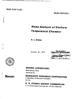 Primary view of object titled 'Noise Analysis of Statham Temperature Chamber'.