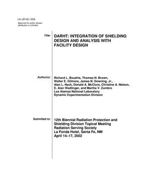 Primary view of object titled 'DARHT : integration of shielding design and analysis with facility design /'.