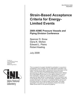 Primary view of object titled 'Strain-Based Acceptance Criteria for Energy-Limited Events'.