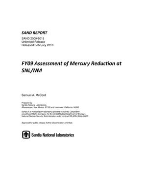 Primary view of object titled 'FY09 assessment of mercury reduction at SNL/NM.'.
