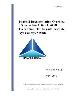 Primary view of object titled 'Phase II Documentation Overview of Corrective Action Unit 98: Frenchman Flat, Nevada Test Site, Nye County, Nevada, Revision 1'.
