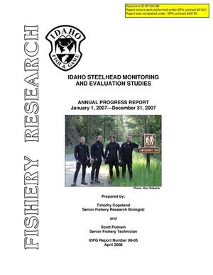 Primary view of object titled 'Idaho Steelhead Monitoring and Evaluation Studies : Annual Progress Report 2007.'.