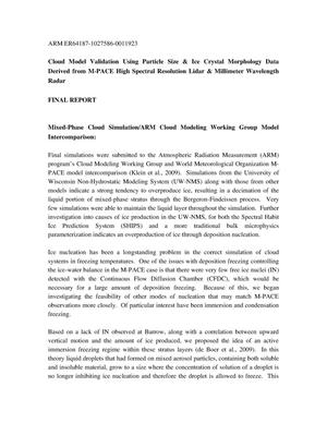 Primary view of object titled 'Final technical Report DE-FG02-06ER65187'.