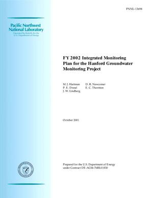 Primary view of object titled 'FY 2002 Integrated Monitoring Plan for the Hanford Groundwater Monitoring Project'.
