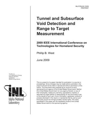 Primary view of object titled 'Tunnel and Subsurface Void Detection and Range to Target Measurement'.
