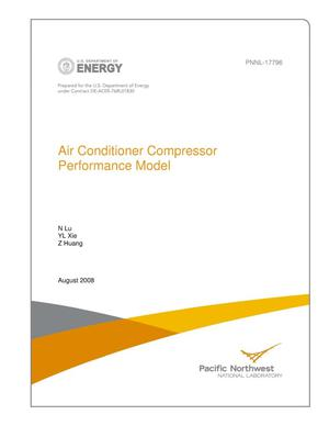 Primary view of object titled 'Air Conditioner Compressor Performance Model'.