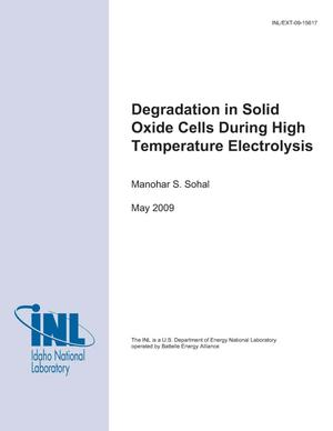 Primary view of object titled 'Degradation in Solid Oxide Cells During High Temperature Electrolysis'.