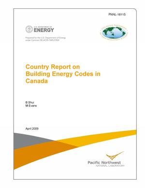 Primary view of object titled 'Country Report on Building Energy Codes in Canada'.