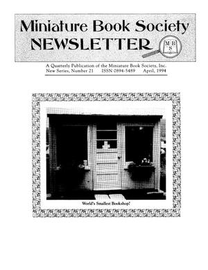 Primary view of object titled 'Miniature Book Society Newsletter 1994 April'.