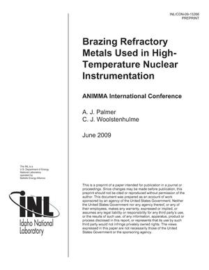 Primary view of object titled 'Brazing Refractory Metals Used In High-Temperature Nuclear Instrumentation'.