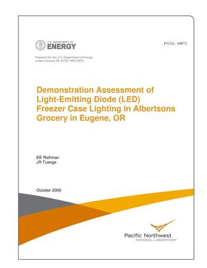 Primary view of object titled 'Demonstration Assessment of Light-Emitting Diode (LED) Freezer Case Lighting in Albertsons Grocery in Eugene, OR'.