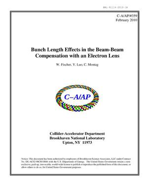 Primary view of object titled 'Bunch length effects in the beam-beam compensation with an electron lens'.
