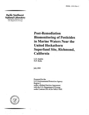Primary view of object titled 'Post-Remediation Biomonitoring of Pesticides in Marine Waters Near the United Heckathorn Site, Richmond, California'.